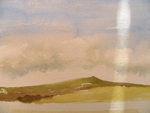 water colour landscape demonstration example